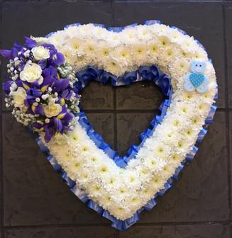 Purple, Blue Open Heart