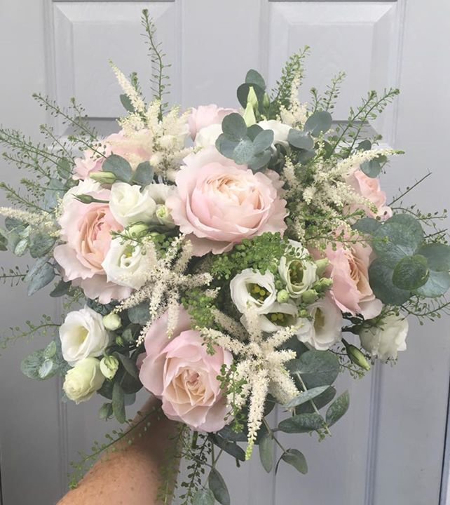 Whites and Pinks Wedding Flowers