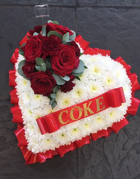 funeral flowers heart shaped