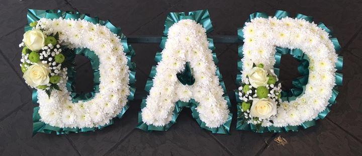 Sympathy Flowers - Dad Letter Tributes