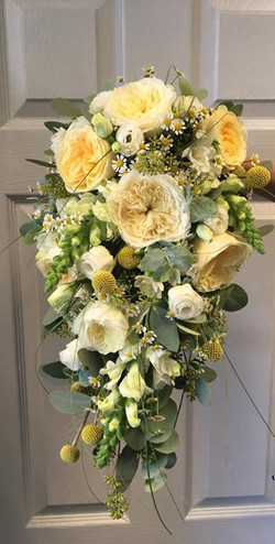Yellow and Cream Waterfall Bouquet