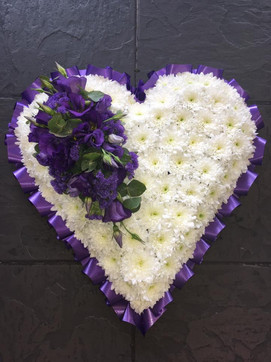 White and Purple Heart