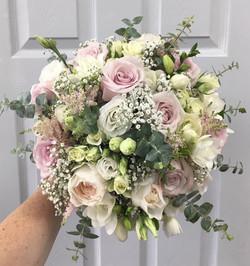 Plush Pink Bride Bouquet