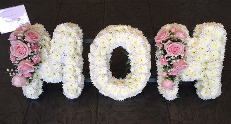 White and Pink Mom Funeral Tribute