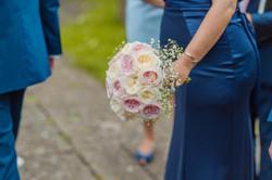 Pink, Cream Wedding Bouquet