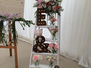 White Wedding Ladders to hire