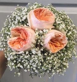 hand tied wedding bouquet blush
