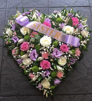 Sister Funeral Heart