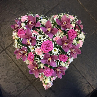 Purple Funeral Heart
