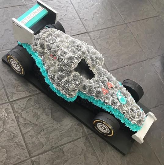 F1 Car Funeral Tribute