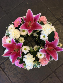 Pink Funeral Wreaths