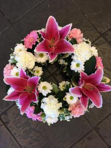 Pink Funeral Wreaths