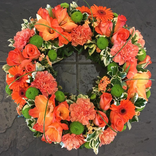 Orange Open  Funeral Wreath.jpg