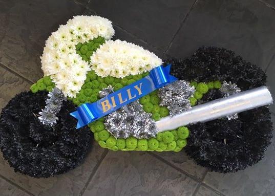 Motorbike Funeral Tribute