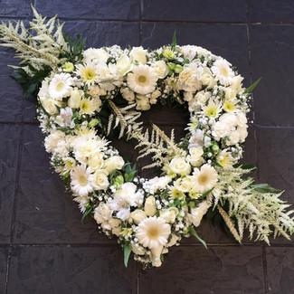 funeral flowers heart wreaths