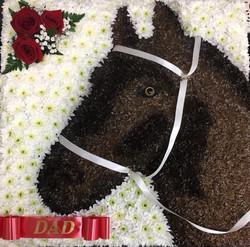 Bespoke Horse Funeral Flowers