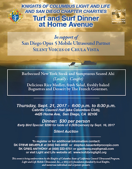 San Diego - Turf & Surf Dinner in Support of Silent Voices of Chula Vista @ Cabrillo Council Hall | San Diego | California | United States