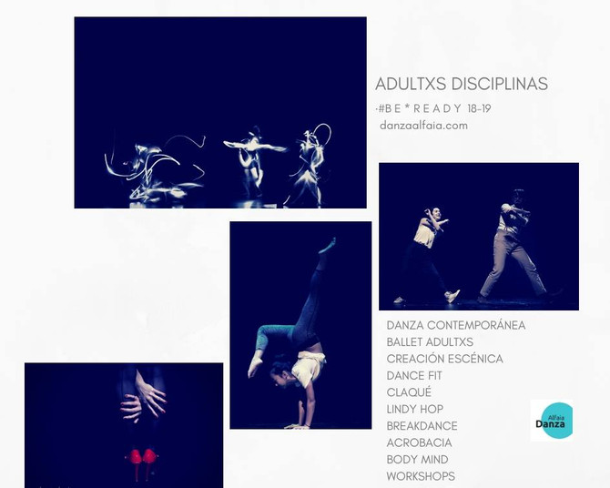 Curso '18-'19!! Academic Year '18-'19!! Let's Dance, ADULTXS DISCIPLINAS! DANZA