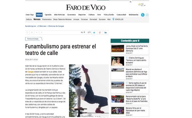 UP2DOWN no Faro de Vigo