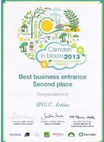 Camden in Bloom Award