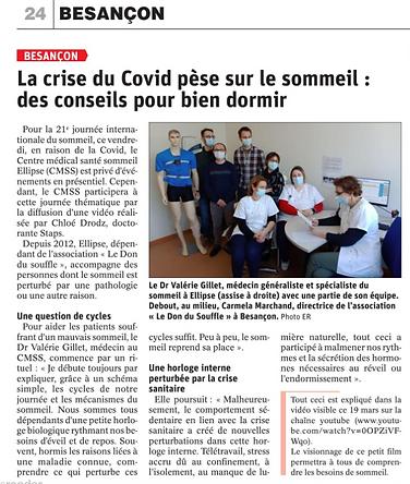 Article Est Républicain 18/03/2021
