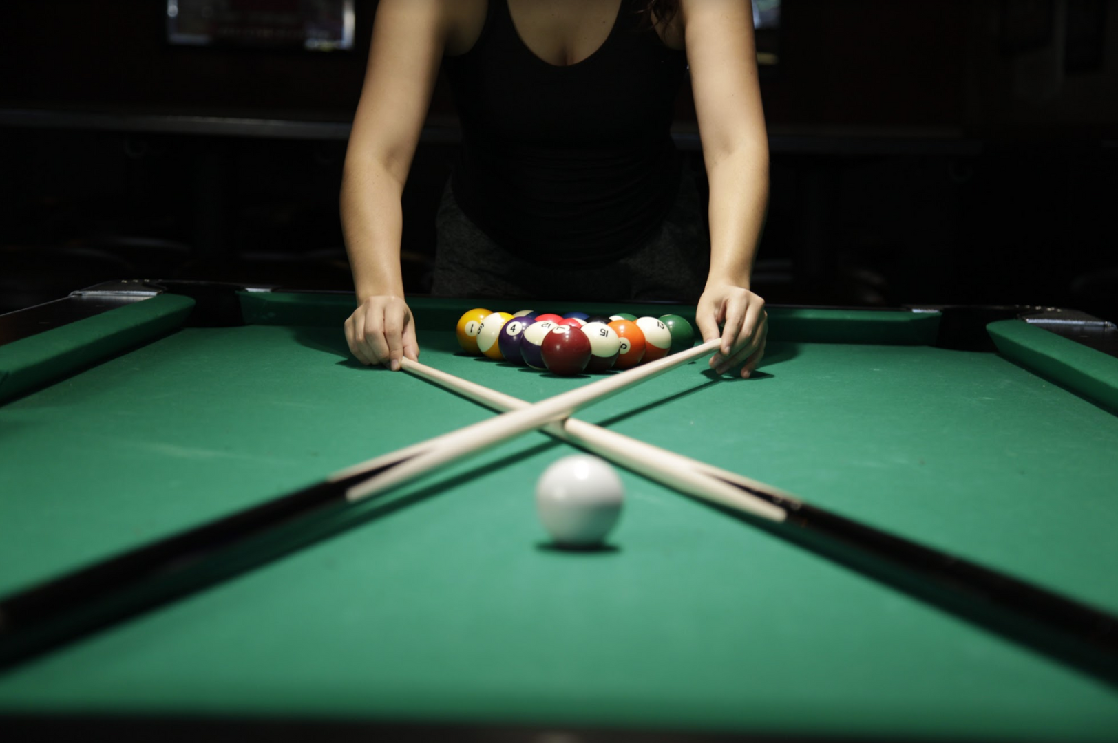 Setting up pool table
