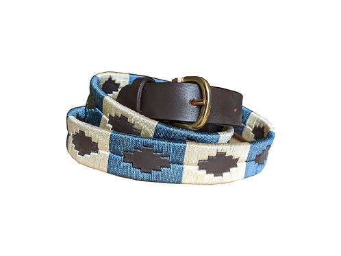 Blue and Cream Polo Belt