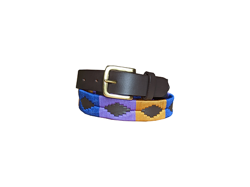 Blue, Purple, Yellow Polo Belt