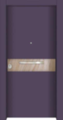 Armored door with sahara stone veneer design