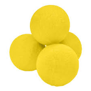 "2"" Super Soft Yellow Sponge Balls (4-pack)"