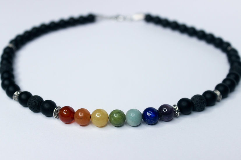 Chakra Rainbow Aromatherapy Necklace