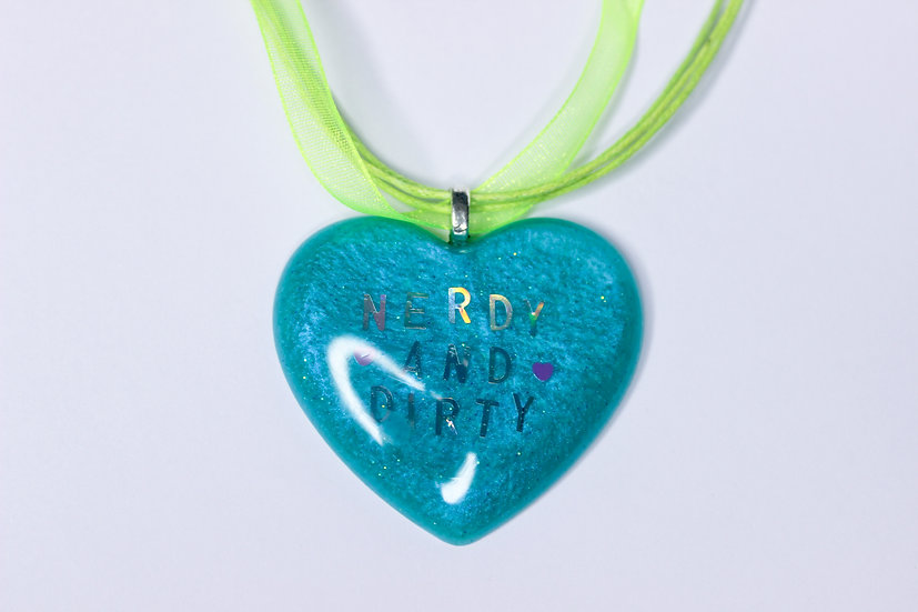 Nerdy and Dirty Heart Necklace