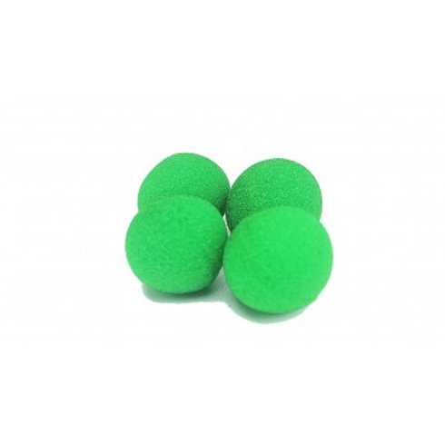 "1"" Super Soft Green Sponge Balls (4-pack)"