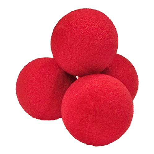 "3"" Super Soft Red Sponge Balls (4-pack)"