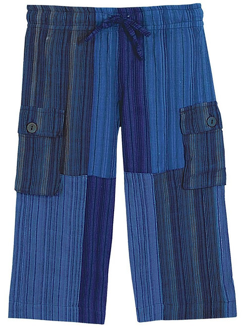 Kids Blue Patchwork Day at the Beach Pants