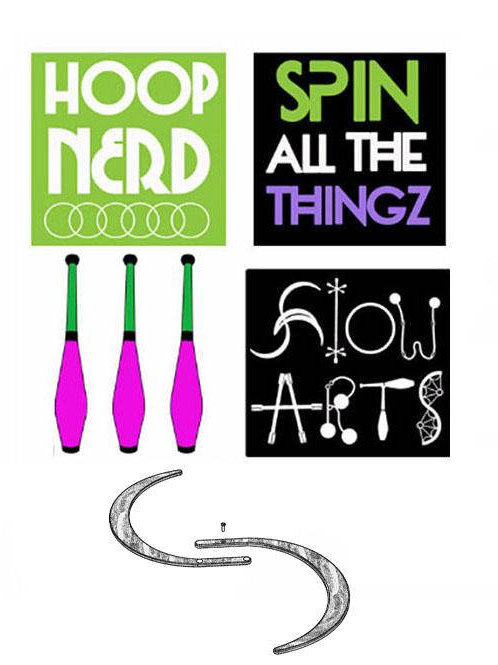 Spin All The Things Sticker
