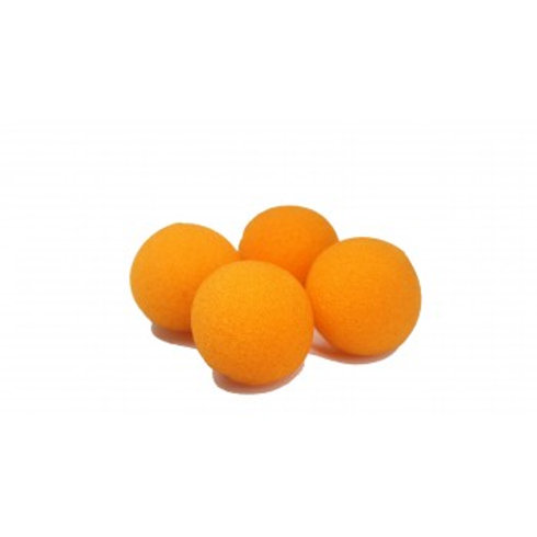 "1"" Super Soft Orange Sponge Balls (4-pack)"