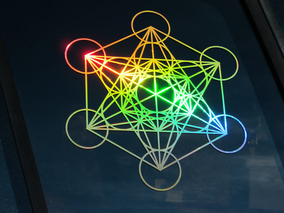 Large Metatron's Cube Sticker