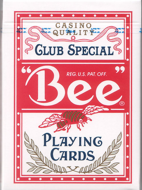 Red Bee Playing Cards