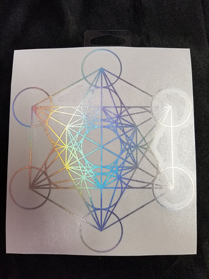 Small Metatron's Cube Sticker