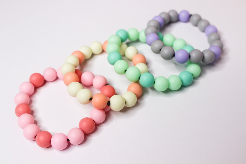 Kawaii Pastel Beaded Elastic Bracelet