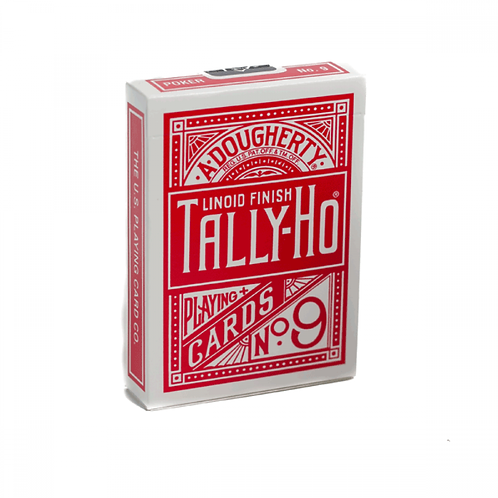 Red Fan Back Tally Ho Playing Cards