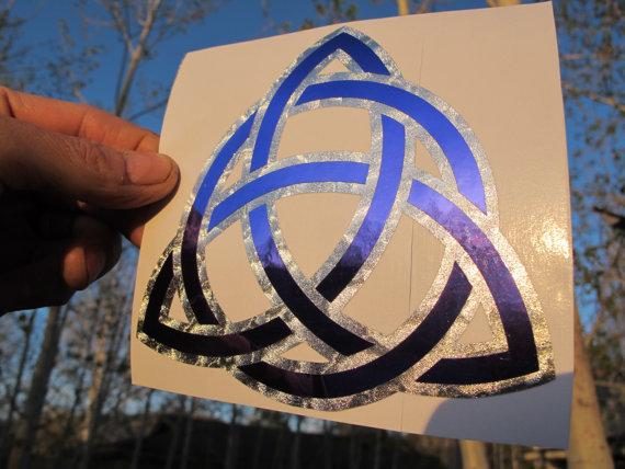 Celtic Trinity Knot (Triquetra) Sticker- Pendragon Edition