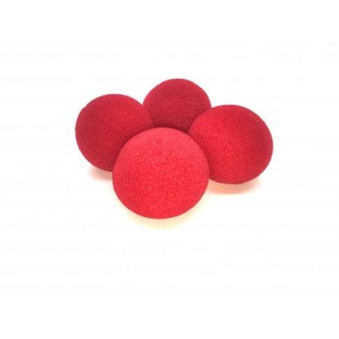 """1"""" Super Soft Red Sponge Balls (4-pack)"""