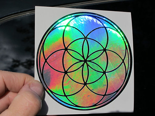 """Seed of Life Dual Layer Sticker- 4"""""""