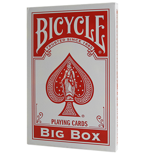 Red Jumbo Bicycle Playing Cards