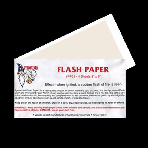 "Flash Paper 8""x9""- 4 Sheets"