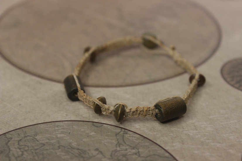 Natural Wooden Bead Bracelet