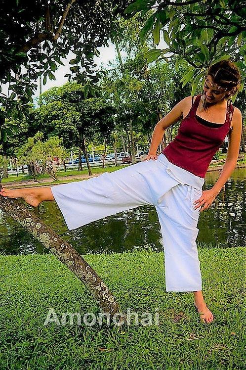 Solid White Thai Fisherman Pants
