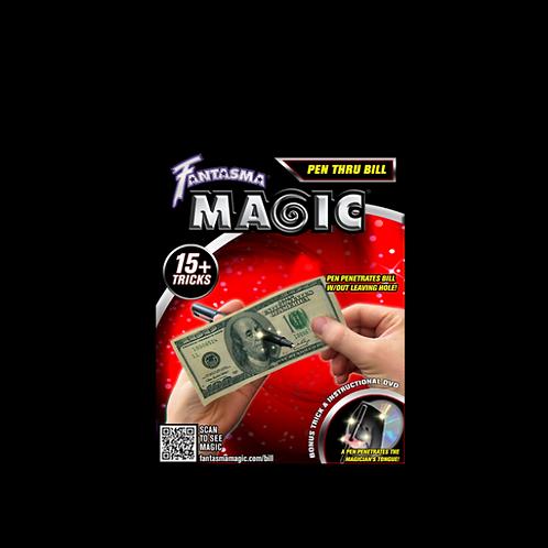 Pen Through Bill (with DVD)- Magick Balay and Fantasma Magic